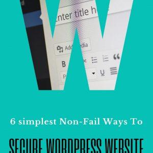 secure your wordpress site - www.tuhamworld.com